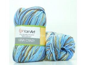 Gina Crazy 7202 hnědá a modrá