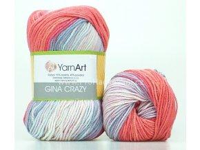 Gina Crazy 8205 červená a fialková