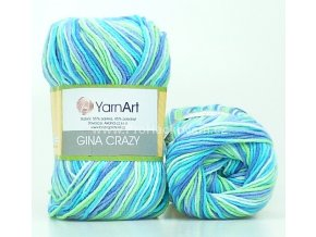 Gina Crazy 7204 zelená a modrá