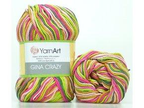Gina Crazy 7206 fuchsiová a zelená