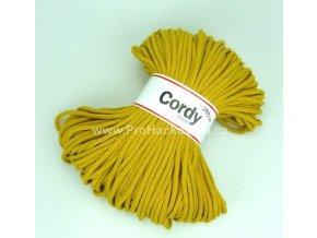 šňůry Cordy 5 mm hořčicové
