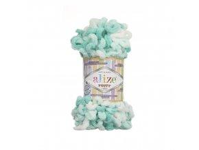 příze Puffy color 5920 variace mentolově zelené