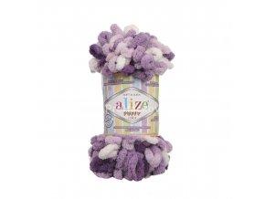 příze Puffy color 5923 variace fialové