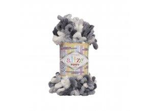 příze Puffy color 5925 variace šedé