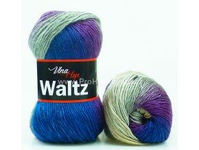 příze Waltz 5702 šedá, fialová, petrol
