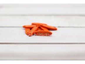 Hand made elipsa oranžový