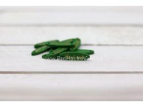 Hand made elipsa zelený