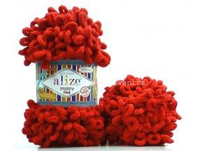 příze Puffy Fine 056 jahodová červená