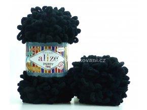 příze Puffy Fine 060 Černá