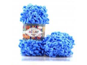 příze Puffy Fine 112 Nebesky modrá