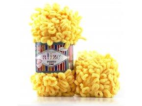 příze Puffy Fine 113 Žlutá