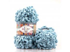příze Puffy Fine 414 Ledově modrá