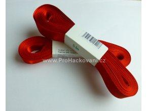 stuha atlasová 336 červená 10 mm