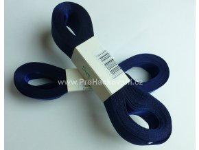 stuha atlasová 549 tmavě modrá 10 mm