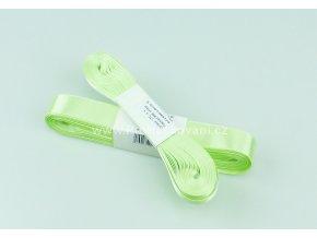 stuha atlasová 661 bledě zelená 20 mm