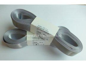 stuha atlasová 874 stříbřitá šedá 20 mm