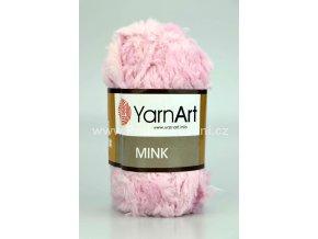 příze Mink 347 světle růžová