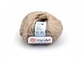 příze Silky wool 337 krémově hnědá