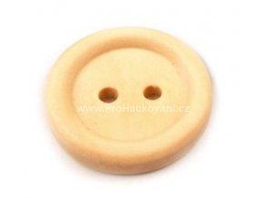 Dřevěný knoflík kulatý přírodní Ø 18 mm