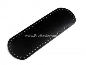 Koženkové dno na kabelku 10 x 30 cm černé