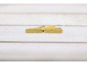 hand made, obdélník kovový - zlatá barva