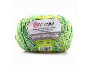 příze Gina Tropical 616 zelená, modrá, fialová, oranžová
