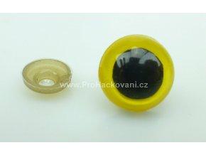 Oči bezpečnostní žluté 12 mm