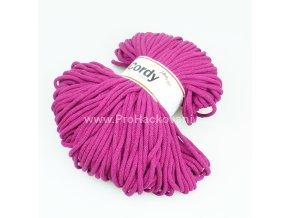 šňůry Cordy 5 mm purpurové
