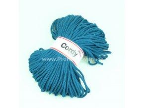 šňůry Cordy 5 mm petrolejové