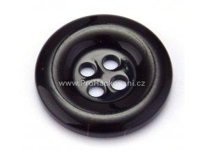 Knoflík kulatý plast 15 mm černý