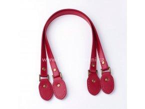 Ucha na tašky koženková červená