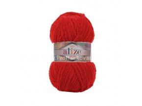 příze Softy Plus 56 červená