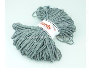 šňůry Cordy 3 mm šedé