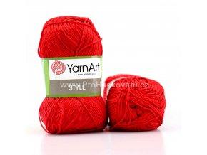 příze Style 675 červená