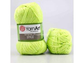 příze Style 662 žluto-zelená
