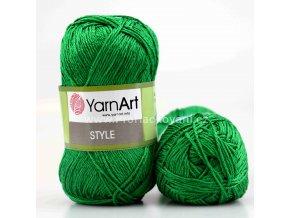 příze Style 664 zelená