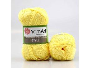 příze Style 656 světle žlutá
