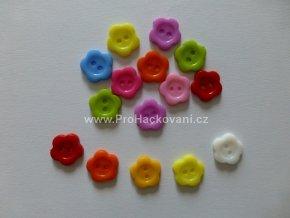 Knoflíky kytička, 14mm, mix barev, balení 5ks