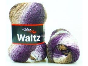 příze Waltz 5709 fialová, bílá a hnědá