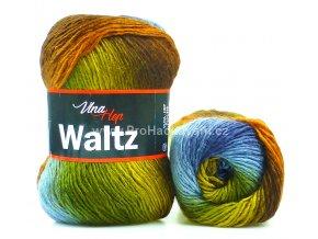 příze Waltz 5711 měděná, hnědá, šedomodrá a zelená
