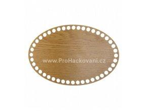 Dno na košík dekor dub ovál  24 x 16 cm