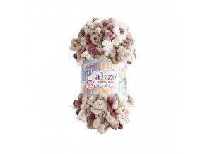 Puffy fine color 6040 smetanová, béžová, hnědá, cihlová