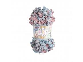 Puffy fine color 6041 ledově modrá, šedá, starorůžová