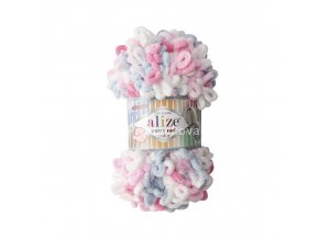 Puffy fine color 5945 bílá, růžová, modrošedá