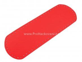 Koženkové dno na kabelku 12 x 36 cm světle červené