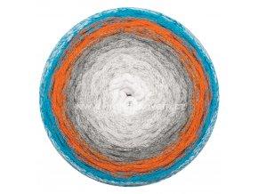 Macrame Cake ReTwisst 31 bílá, šedá, oranžová