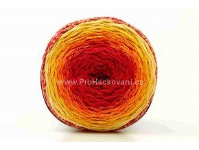 Chainy Cotton Cake ReTwisst 15 variace  červená, oranžová, žlutá