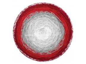 Macrame Cake ReTwisst 16 bílá, šedá, červená