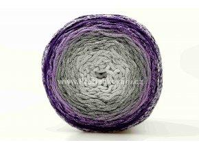 Chainy Cotton Cake ReTwisst 09 variace  bílá, šedá, fialová