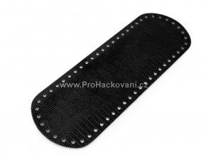 Koženkové dno na kabelku 10 x 30 cm strukturované černé